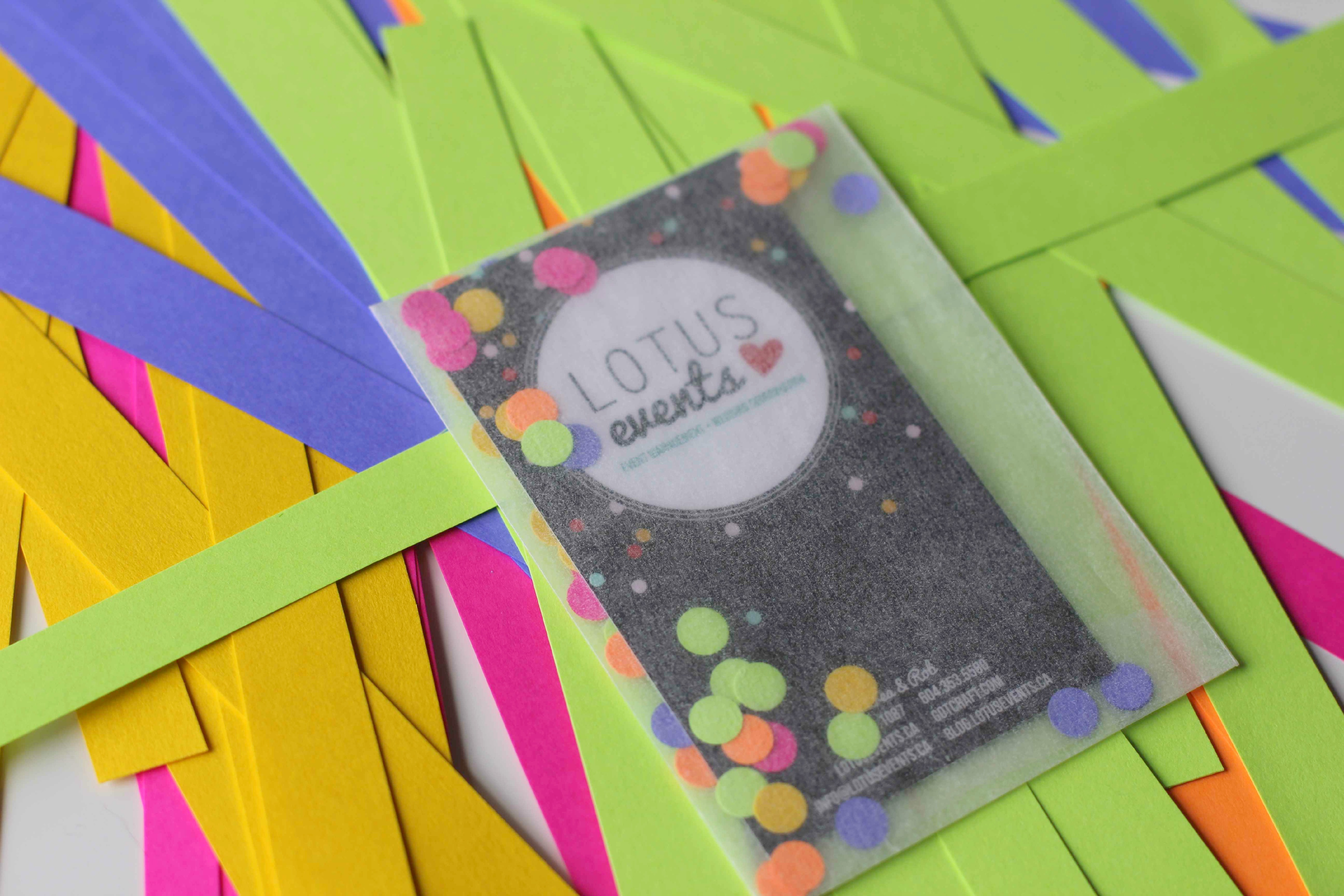 how to make a confetti card